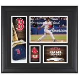 """""""Rafael Devers Boston Red Sox Framed 15"""""""" x 17"""""""" Player Collage with a Piece of Game-Used Baseball"""""""