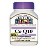 """Co-Q10 60 mg 75 Capsules, 21st Century Health Care"""