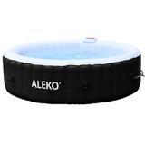 ALEKO 6-Person 130-Jet Vinyl Round Inflatable Plug & Play Hot Tub, Vinyl in Black, Size Large | Wayfair HTIR6BKW