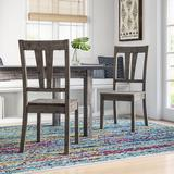 Mistana™ Katarina Slat Back Side Chair in Gray OakWood in Brown/Gray, Size 40.0 H x 18.0 W x 22.0 D in | Wayfair 5C4C12A02A2B410FA38A558FF99AEEA4