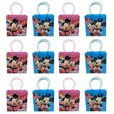 48pc Mickey & Minnie Mouse Goodie Bags Party Favor Bags Gift Bags