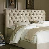 Liberty Furniture Upholstered Beds Queen Chesterfield Sleigh Headboard, Natural Linen