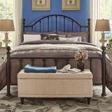 HomeVance Samantha Victorian Metal Poster Bed, Brown, Queen