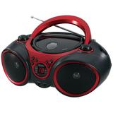 Jensen Portable Stereo CD Player with AM / FM Radio, Red