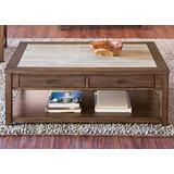 Liberty Furniture Industries Mesa Valley Cocktail Table, W47 x D30 x H19, Medium Brown
