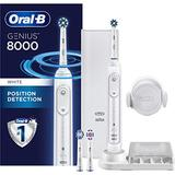 Oral-B 8000 Electronic Power Rechargeable Battery Electric Toothbrush with Bluetooth Connectivity, White