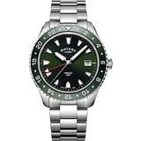 Rotary Men's Year-Round Quartz Watch with Stainless Steel Strap, Silver, 20 (Model: GB05108/24)