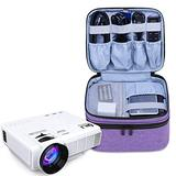 Luxja Carrying Bag for DR.J Mini Projector, Portable Case for Mini Projector and Accessories (Fits Most Major Mini Projectors), Purple