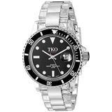 TKO ORLOGI Unisex TK500-BK Venetia Steel Plastic Case and Bracelet Watch