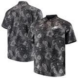 Men's Tommy Bahama Black Philadelphia Eagles Big & Tall Fuego Floral Button-Up Shirt