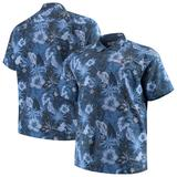 Men's Tommy Bahama Navy New England Patriots Big & Tall Fuego Floral Button-Up Shirt