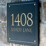 Clarus Crystal 2-Line Wall Address Plaque Stone in Gray, Size 12.0 H x 12.0 W x 0.375 D in | Wayfair NLABG1