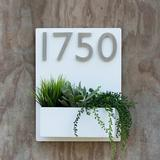 Urban Mettle Madness 1-Line Wall Address Plaque Metal in White, Size 16.0 H x 12.0 W x 4.0 D in | Wayfair Mid_WHITE_4