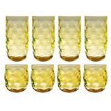 Ebern Designs Corentin 8-Piece Acrylic Assorted Glassware Set Plastic in Yellow, Size 4.0 H x 3.25 W in | Wayfair 0D80E88E0CF04C7B898E943CF2401388