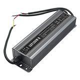 150 Watt Waterproof IP67 LED Power Supply Driver Transformer 110V AC 60Hz to 12V DC Low Voltage Output for Low Voltage Landscape Lighting Spotlight Outdoor