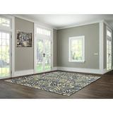 Astoria Grand Rectangle Soraya Floral Handmade Tufted 5' x 8' Area Rug Wool in Blue, Size 96.0 H x 60.0 W x 0.38 D in | Wayfair