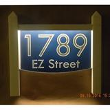 EZ Street Signs 2-Line Lawn Address Sign Plastic in Blue, Size 15.5 H x 14.0 W x 2.5 D in   Wayfair 9mw-2