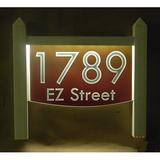 EZ Street Signs 2-Line Lawn Address Sign Plastic in Red, Size 15.5 H x 14.0 W x 2.5 D in | Wayfair 9mw-4