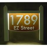 EZ Street Signs 2-Line Lawn Address Sign Plastic in Brown, Size 15.5 H x 14.0 W x 2.5 D in | Wayfair 9mw-5