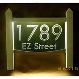 EZ Street Signs 2-Line Lawn Address Sign Plastic in Green, Size 15.5 H x 14.0 W x 2.5 D in   Wayfair 9mw-1