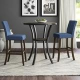 Greyleigh™ Haysi 2 Person Bar Height Dining Set Wood/Metal in Blue, Size 42.0 H in | Wayfair 5B50E365499F48D5B7768EA956BB90F0