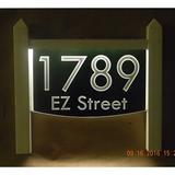 EZ Street Signs 2-Line Lawn Address Sign Plastic in Black, Size 15.5 H x 14.0 W x 2.5 D in | Wayfair 9mw-6
