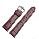 18mm19mm 20mm 21mm Black/Brown Leather Watch Band Strap Buckle for Patek Philippe Watch (19mm, Brown(Brown line)(Silver Buckle))