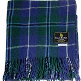 "I LUV LTD Scottish Tartan Warm Wool Mix Throw Blanket Douglas Modern Plaid Couch Blanket Bed Throw Blankets Wool Rug Outdoor Blankets and Throws 60"" x 72"""