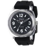 TKO ORLOGI Unisex TK508-BB Milano Plastic Case Black Rubber Strap Watch