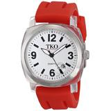"""TKO ORLOGI Unisex TK508-WR """"Milano"""" Watch with Red Rubber Band"""