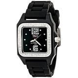 TKO ORLOGI Women's TK514-BK Riviera Swarovski Crystal Accented Ice Black Plastic Case Watch