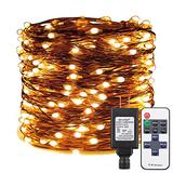 ER CHEN Warm White LED String Lights Plug in, 165ft 500 LED Supper-Long Fairy Lights Dimmable with RF Remote, Copper Wire Indoor/Outdoor Decorative Lights for Bedroom, Patio, Garden, Yard