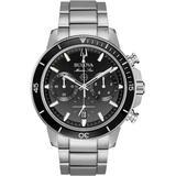Men's Chronograph Marine Star Stainless Steel Bracelet Watch 45mm - Metallic - Bulova Watches