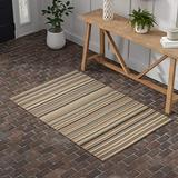 Amazon Brand – Stone & Beam Contemporary Striped Area Rug, 4 x 6 Foot, Beige