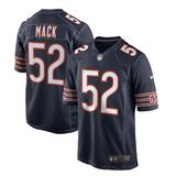 Men's Nike Khalil Mack Navy Chicago Bears Game Player Jersey