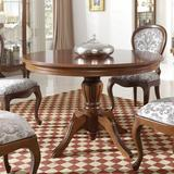 """Alcott Hill® Avalos 45.7"""" Solid Wood Pedestal Dining Table Wood in Brown, Size 30.3 H x 45.7 W x 45.7 D in 