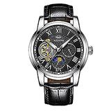 WhatsWatch AILANG Famous Brand Watch 2018 New Luxury Men Automatic Mechanical Watches Rose Gold Case Blue Dial Leather Strap Moon Phase -532