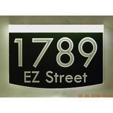 EZ Street Signs 2-Line Lawn Address Sign in Black, Size 8.5 H x 12.0 W x 2.5 D in | Wayfair 8m-6-w