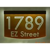 EZ Street Signs 2-Line Lawn Address Sign in Orange, Size 8.5 H x 12.0 W x 2.5 D in   Wayfair 8m-3-b