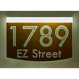 EZ Street Signs 2-Line Lawn Address Sign in Brown, Size 8.5 H x 12.0 W x 2.5 D in | Wayfair 8m-5-w