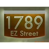 EZ Street Signs 2-Line Lawn Address Sign in Orange, Size 8.5 H x 12.0 W x 2.5 D in   Wayfair 8m-3-w