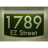 EZ Street Signs 2-Line Lawn Address Sign in Green, Size 8.5 H x 12.0 W x 2.5 D in   Wayfair 8m-1-s