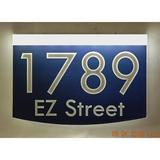 EZ Street Signs 2-Line Lawn Address Sign in Blue, Size 8.5 H x 12.0 W x 2.5 D in   Wayfair 8m-2-w