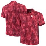 Men's Tommy Bahama Crimson Oklahoma Sooners Big & Tall Fuego Floral Button-Up Shirt