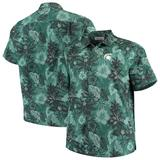 Men's Tommy Bahama Green Michigan State Spartans Big & Tall Fuego Floral Button-Up Shirt