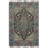 """Loloi Rugs, Zharah Collection - Navy / Blue Area Rug, 2'6"""" x 7'6"""""""