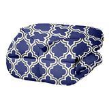 Trellis Comforter Set with Pillow Shams, Luxurious & Soft Microfiber with Down Alternative Fill, Contemporary Geometric Trellis Design - King/California King Bedding Set, Navy Blue