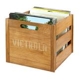 Victrola Wooden Record Crate, Brown