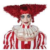California Costumes Women's Creepy Clown Wig, Dark RED, One Size