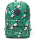 Nintendo Super Mario Bros. Yoshi Face Sublimation Print Backpack, Green Bp365318ntn